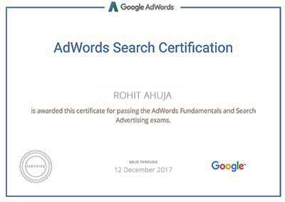 rohit-ahuja-google-adwords-certificate